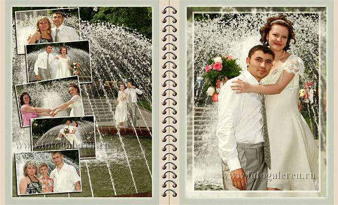 Пример свадебных коллажей из фотографий разворот10 - СВАДЕБНЫЙ ФОТОАЛЬБОМ КОМБИНИРОВАННЫЙ - - Фотогалерея /портфолио/ образцы фо